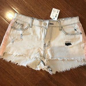 Pants - NWT grey distressed denim shorts